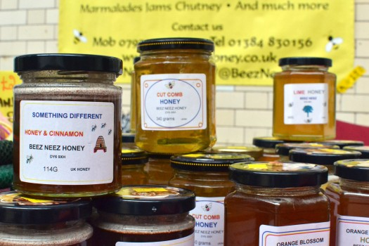 A variety of jars of honey