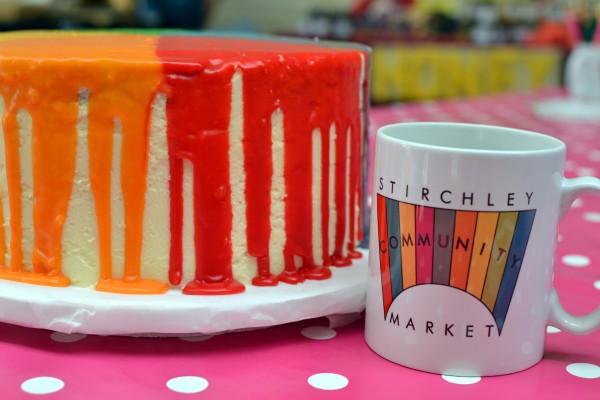 A birthday cake and Market mugbirthday