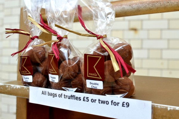 Double choc truffles from Kneals Chocolates