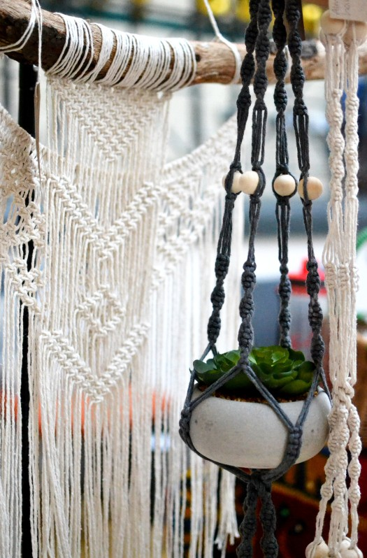 Basket hangers from Amy Macramé
