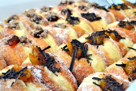 Jaffa cake flavoured doughnuts from Jam vs Custard