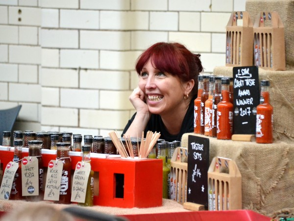 Always a smile on the Pip's Hot Sauce stall