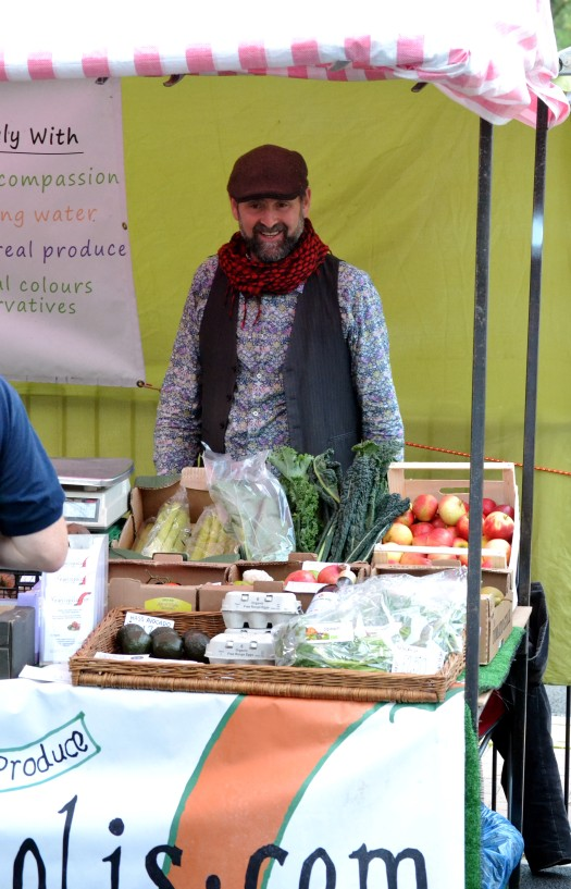 Tom of Vegetropolis with healthy organic veg