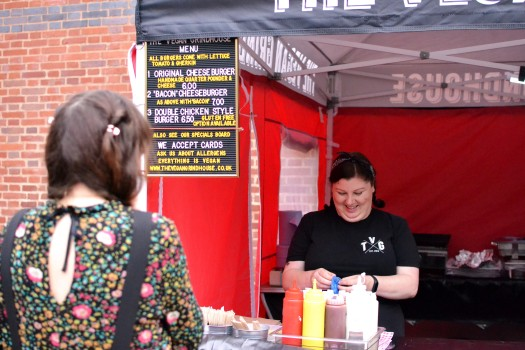 The Vegan Grindhouse stall