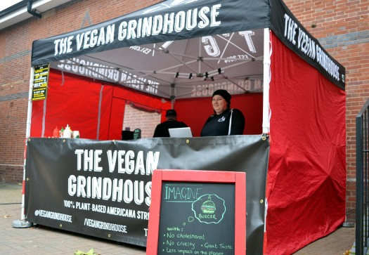 The Vegan Grindhouse, all ready for the Market to open