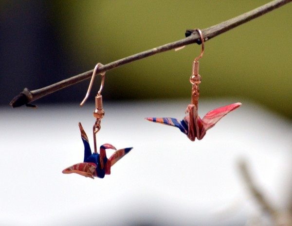 Origami bird earrings from Windy and Wild