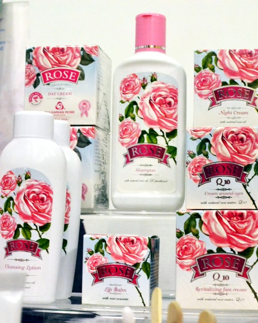 Beauty products in beautiful packages from Bulgarian Rose