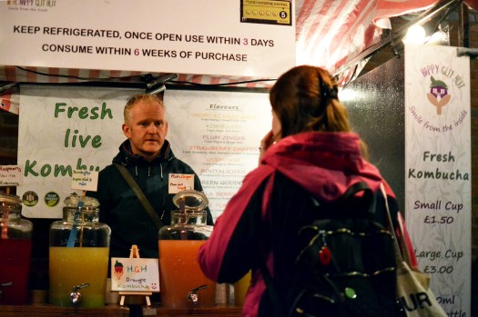 Kombucha for sale under lights