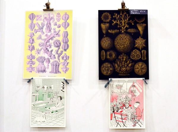 Coloured Risograph prints