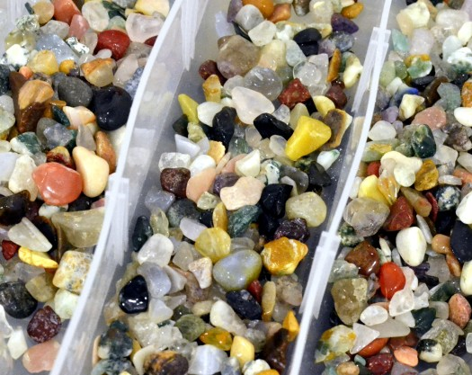 A huge collection of small stones