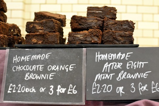 Chocolate orange and After Eight Mint brownies