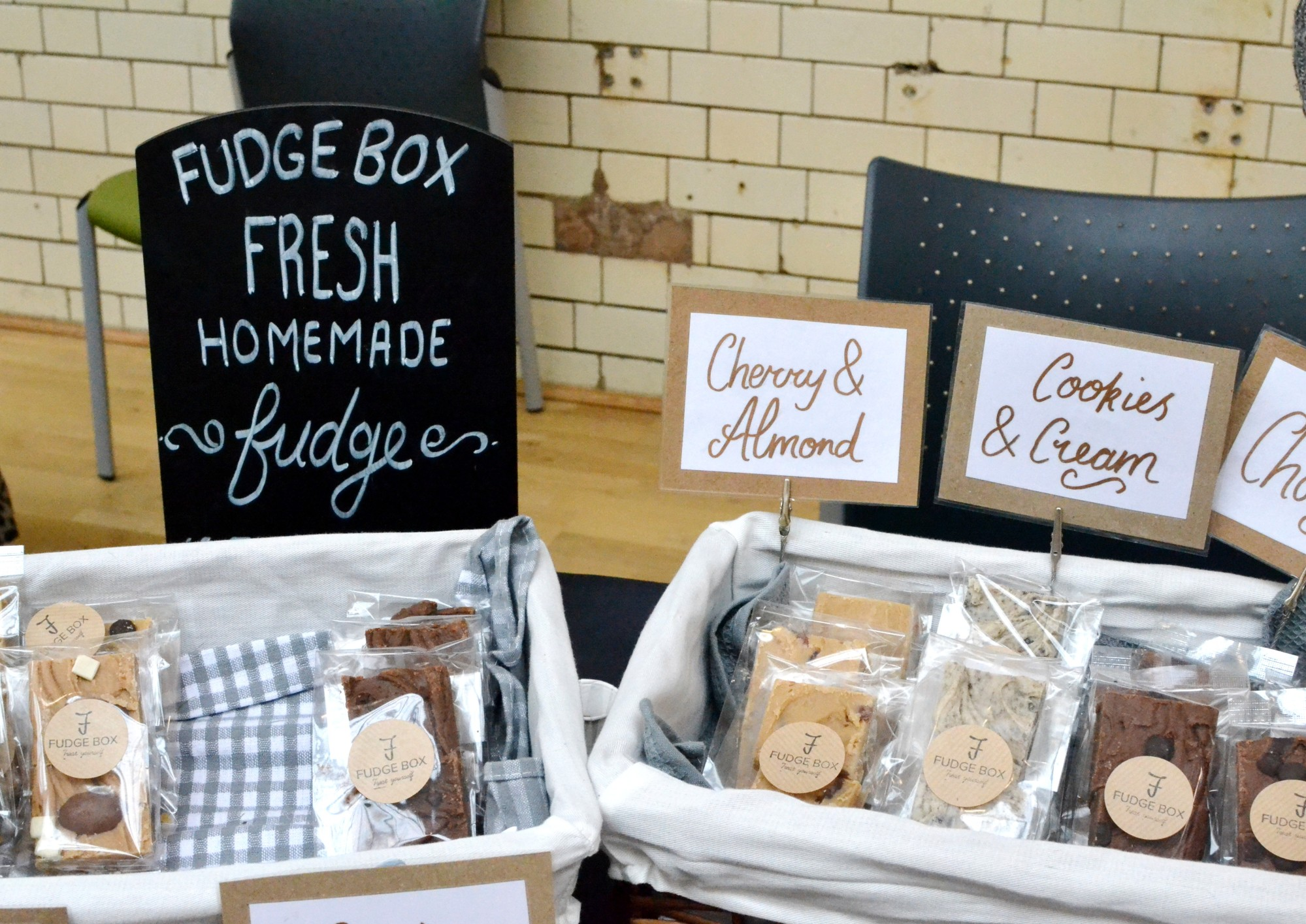 A range of fudge flavours from Fudgebox