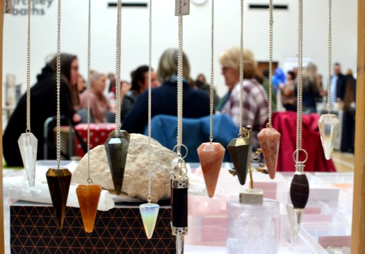The Market viewed from the Julie's Reiki stall with its range of crystals and stones