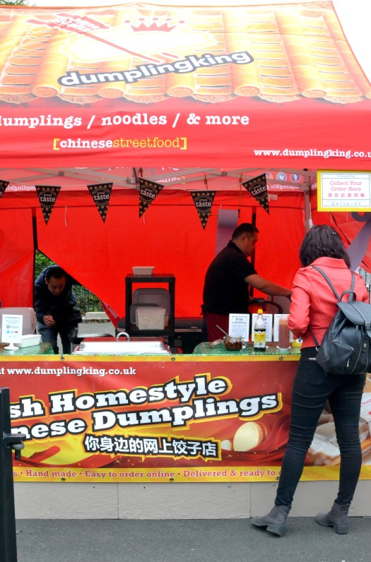 Dumpling King with Chinese street food