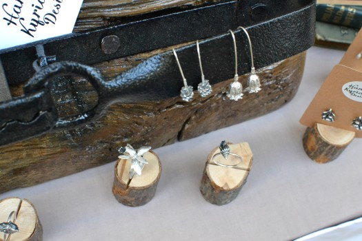 First time at the Market for Hannah Kyriakou with nature-themed silver jewellery
