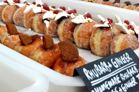 The usual amazing choice of doughnut flavours from Jam vs Custard