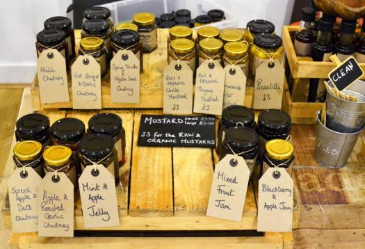 Everything's available to sample at Cuffufle Preserves