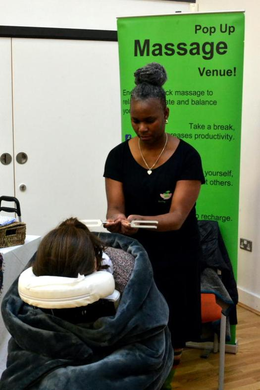 Relaxation therapy from Dionne of Declog Body Mind