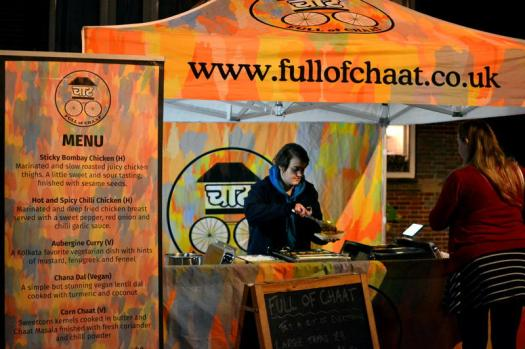 A great hot food menu from Full of Chaat