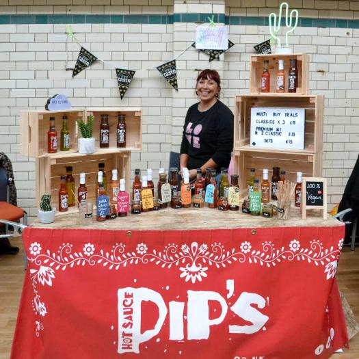 Pip's Hot Sauce with a new display... and same great sauce