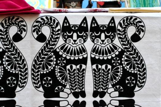 Screen printed tea towel from Karoline Rerrie