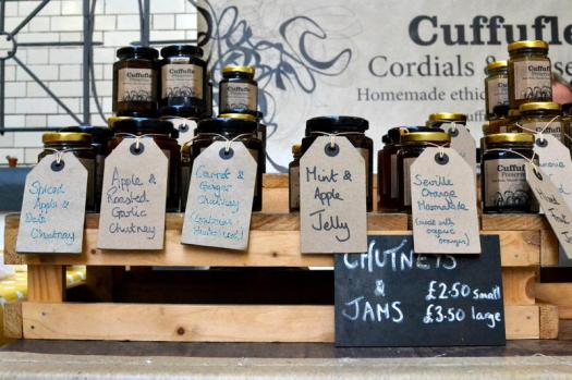 A selection of chutneys and preserves from Cuffufle Preserves