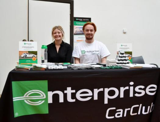 Holly and Joshua with Enterprise Car Club
