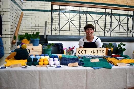 First time at the Market for Clare of Got Knits