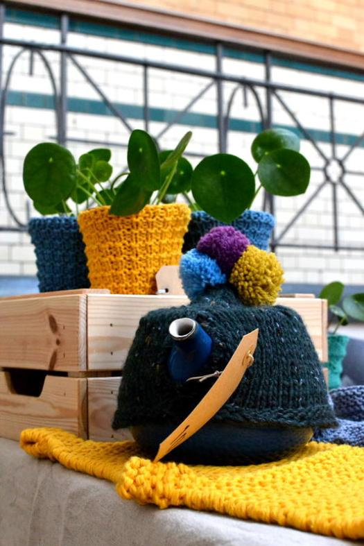 Cover your plant pots and teapots with help from Got Knits