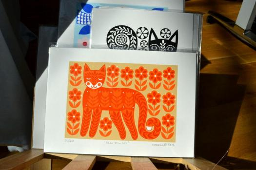 Sunshine and screen prints from Karoline Rerrie