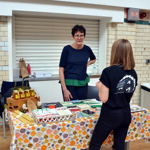 Stallholder chat with Let It Bee