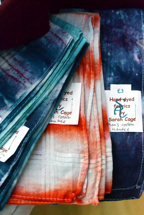 Hand-dyed fabrics from Sarah Cage Textiles